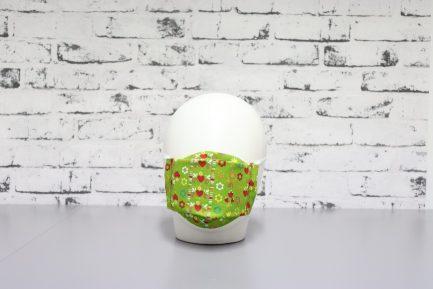 mascarilla lavable estampada verde