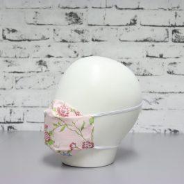 Mascarilla Rosa Estampado Flores